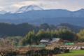 [浅間山][集落][山々][冠雪][雪]浅間山