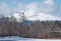 [浅間山][冠雪][噴煙][雪雲][南コース]浅間山