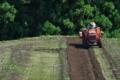 [トラクター][山間][段々畑][畑][農耕車]トラクター