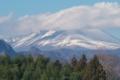 [浅間山][冠雪][雲][冬空][青空]浅間山