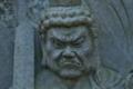 [不動明王][お不動さん][石仏][スギ林][山道]不動明王