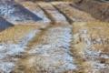 [堤防][高田川][右岸][農道][雪]堤防