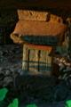 [祠 朝日に染まる][岩窟][祠][影向岩][妙義神社]祠 朝日に染まる