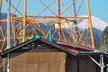 [納屋][農具小屋][鉄塔][送電線][浅間山]納屋