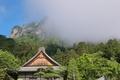[立ち上る雲][雲][御殿][白雲山][妙義神社]立ち上る雲