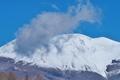 [浅間山][浅間][冠雪][雲][冬空]浅間山