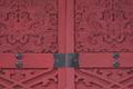 [南門と北門][北門][彫刻][赤い門][妙義神社]南門と北門