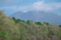 [浅間山][浅間][新緑][残雪][信濃追分]浅間山