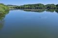 [丹生湖][湖][ダム湖][湖面][青空]丹生湖