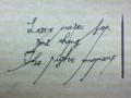 【切り絵】Love waits for one thing. The right moment