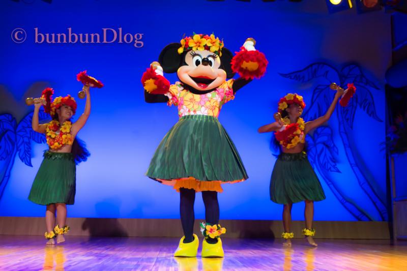 ルアウのミニーちゃ踊り