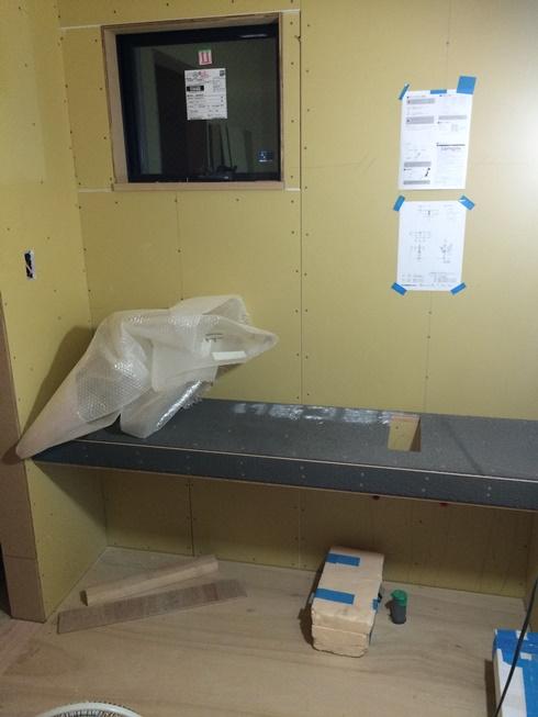 洗面施工第一段階