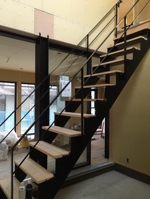 階段塗装後②