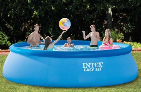 #INTEX EASY SETプール②
