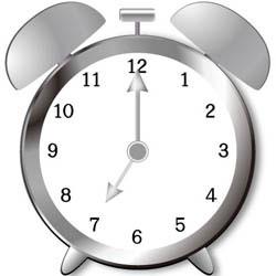 朝7時を示す時計
