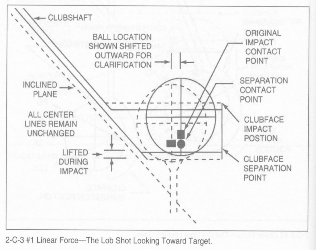 ロブショットおよびパッティングの弾道