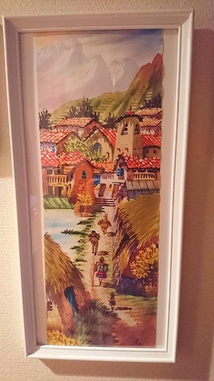 クスコで購入した水彩画