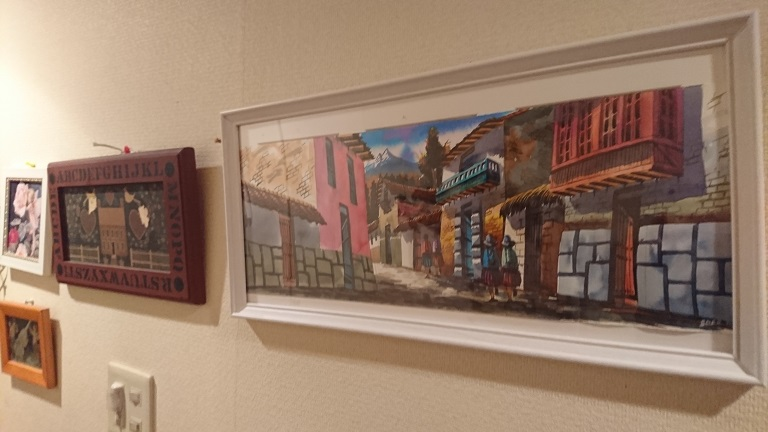 クスコで買ったお土産用の水彩画。