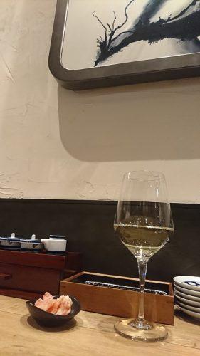 ワインと天ぷら
