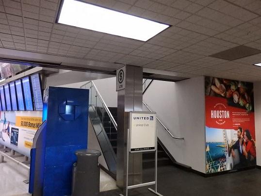 ターミナルBのラウンジ