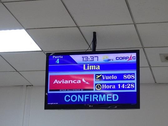 クスコの空港で