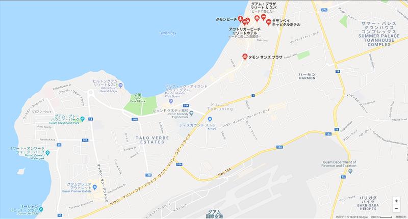 タモン地区の地図