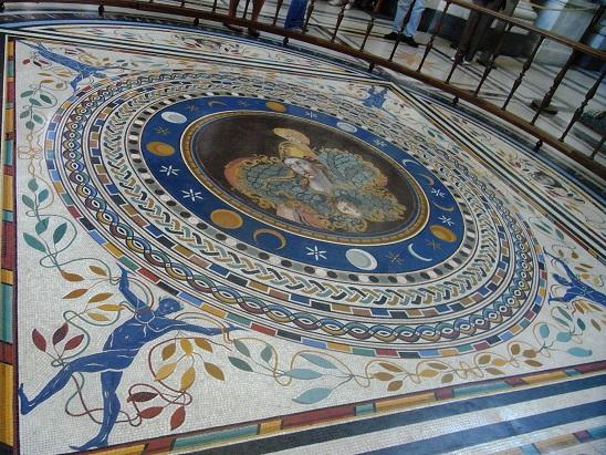 ヴァチカン美術館のモザイク床