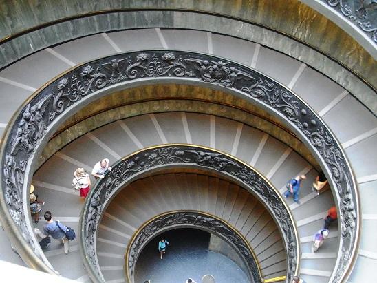 ヴァチカン美術館階段