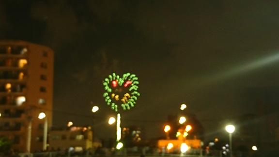 珍しいカエルの花火