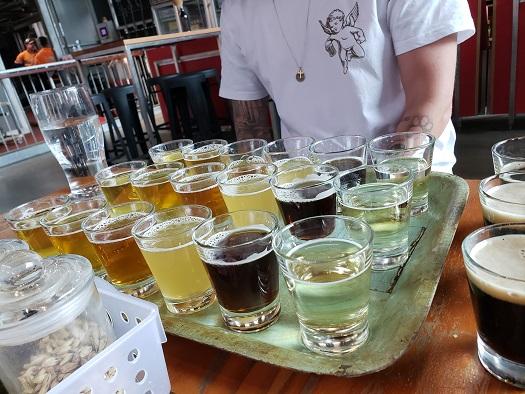2回目の試飲ビールの数々
