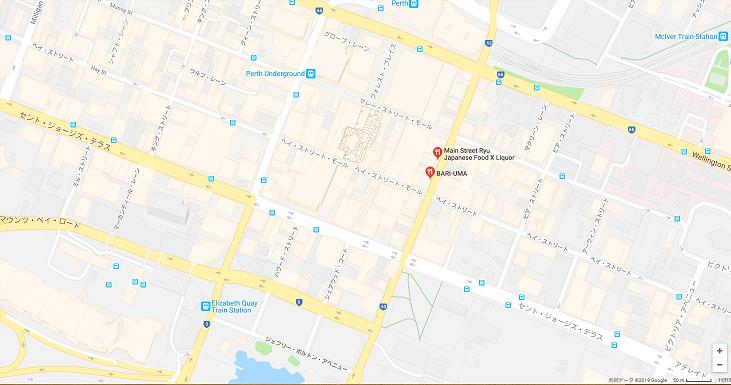 バリウマ、グーグルマップのスクリーンショット