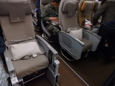 A350エコノミーの座席