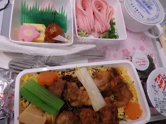 夕飯は桜をイメージした和食
