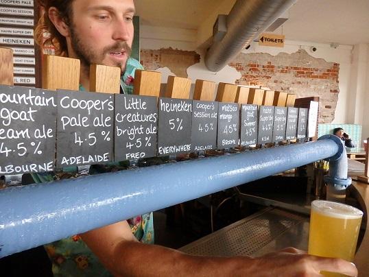 ビールの生サーバー