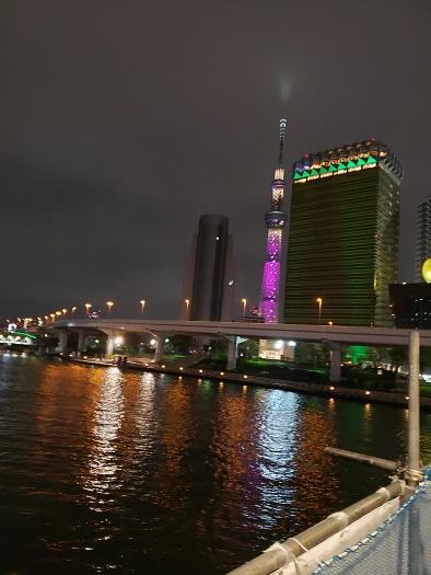 吾妻橋からのスカイツリー夜景