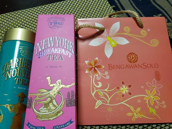 ブンガワンソロのパッケージとTWgの紅茶