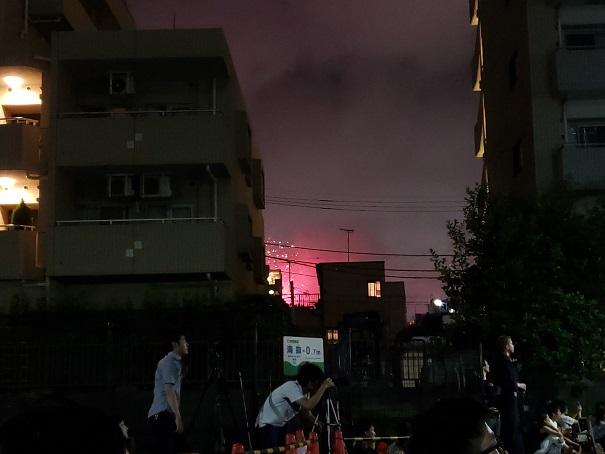 駒形会場の花火