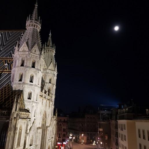 シュテファン大寺院と月