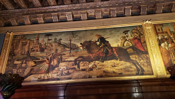 聖ジョルジュの龍退治の絵