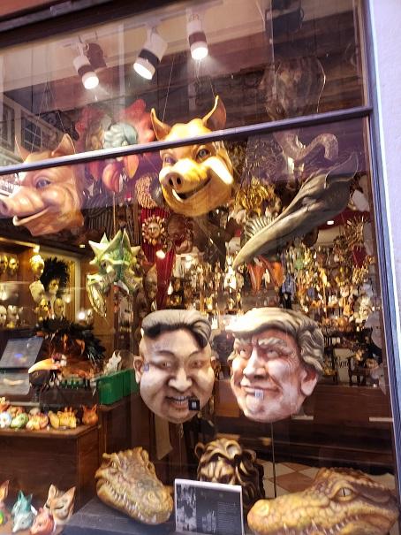 カーニバル用のマスク店