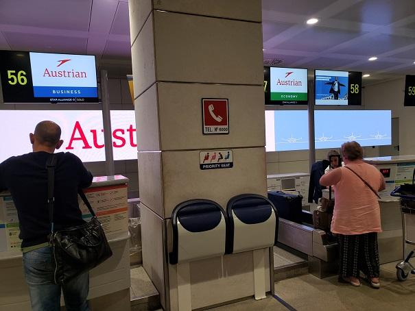 オーストリア航空チェックインカウンター