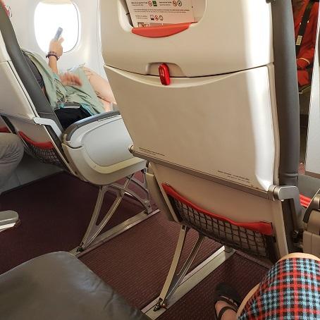 前の席とのシート間隔