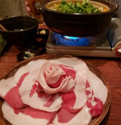 牡丹鍋のイノシシ