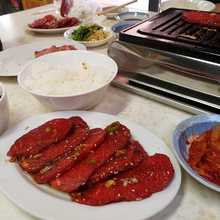 焼肉定食のロース肉