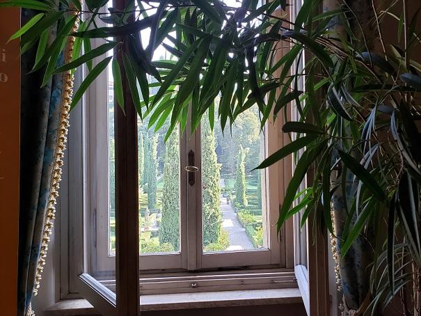 ベッドルームの窓