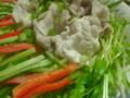 野菜たっぷり、豚冷しゃぶ〜