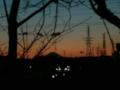 夕焼けに映える今年のラスト富士