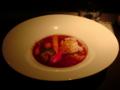 金曜ランチのハヤシライス。野菜メインで、やさしい味。うまいなあ…