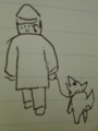 年老いた 主人気遣い 付いてゆく #jhaiku 犬もかわいいです〜