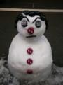 飲み屋前 アフロファンキー 雪だるま #jhaiku イケメンすぎ!